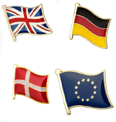Flagg emaljepins
